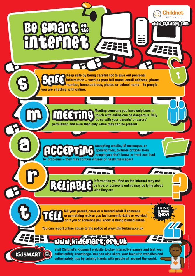 Be smart on the internet poster